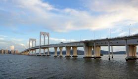 мост macau стоковая фотография