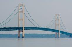 Мост Mackinac, город Mackinaw, Мичиган, США Стоковые Изображения RF