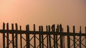 мост mandalay myanmar u bein видеоматериал