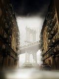 мост manhattan старый Стоковая Фотография