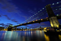 мост manhattan Стоковое Изображение