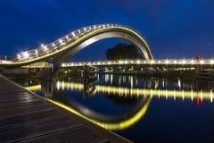 Мост Melkweg в Purmerend, Нидерландах Стоковое Изображение