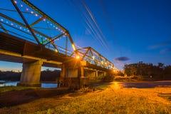 Мост Memerial в Pai во время сумерк стоковое изображение