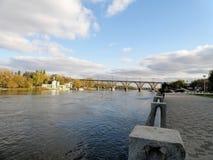 Мост Merefa-Kherson стоковые фотографии rf