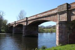 Мост Mertoun, Шотландия Стоковая Фотография