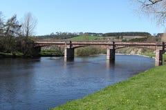 Мост Mertoun, Шотландия стоковые фотографии rf