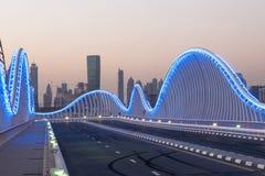 Мост Meydan в Дубай Стоковое Изображение RF