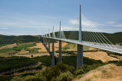мост millau стоковое изображение
