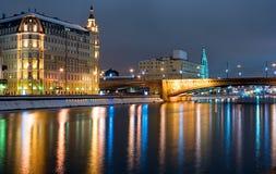 мост moscow стоковое изображение