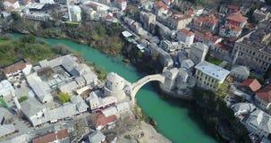 мост mostar старый стоковые изображения rf