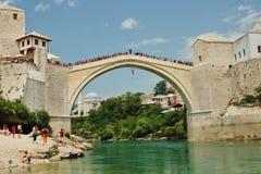мост mostar стоковая фотография