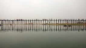 мост myanmar u bein стоковое фото rf