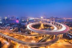 Мост NanPu стоковая фотография rf