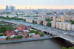 мост novoandreevsky Стоковые Изображения RF