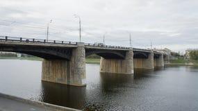 Мост Novovolzhsky в Tver Стоковая Фотография