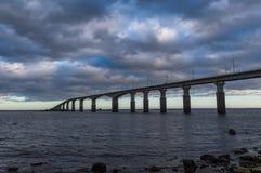 Мост Oland, Kalmar, Швеция стоковые фото