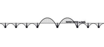 Мост Openwork свода конкретный с локомотивом пара Транспортная инфраструктура Транспорт пассажиров Стоковые Изображения