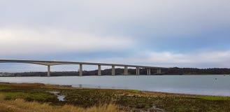 Мост Orwell мост Orwell над рекой Orwell Стоковые Изображения