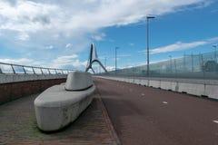 Мост Oversteek в Наймегене стоковая фотография rf