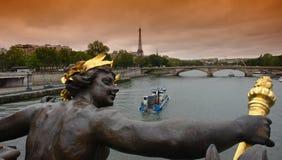 мост paris 3 alexandre Стоковая Фотография RF