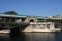 мост paris Стоковое фото RF