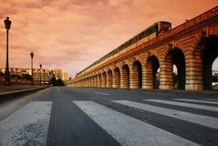 мост paris bercy Стоковые Изображения