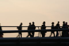 Мост Pedestrrian Стоковое Изображение RF