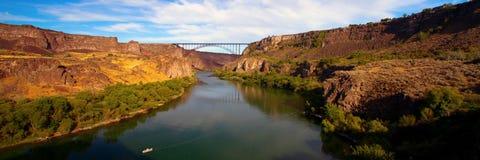 Мост Perrine над Рекой Снейк Стоковая Фотография