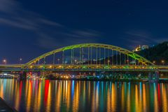 Мост Pitt форта, Питтсбург, PA стоковые фото