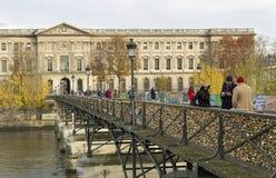 Мост Pont des Arts Стоковое Изображение