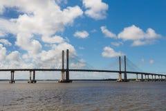 Мост Ponte Construtor Joao Alves в Aracaju, Сержипи, Бразилия Стоковое фото RF