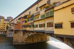 Мост Ponte del Vecchio в Флоренсе Стоковое Изображение