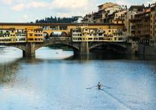 Мост Ponte Vecchio в Флоренсе в Италии Стоковое Фото