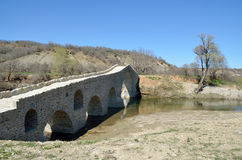 Мост Pramortsa в козани, Греции стоковая фотография