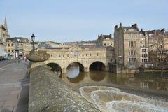 Мост Pulteney, ванна, Великобритания Стоковые Фото