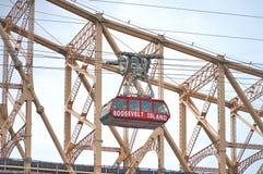 Мост Queensborough в центре города Манхаттане с горизонтом Нью-Йорка над Ист-Ривер Стоковые Фото