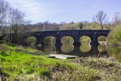 Мост Quoile на окраинах Downpatrick Северной Ирландии стоковая фотография rf