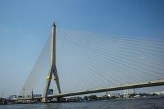 Мост Rama 8 в Бангкоке Таиланде Стоковые Фотографии RF