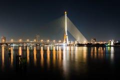 Мост Rama 8 в Бангкоке Стоковая Фотография
