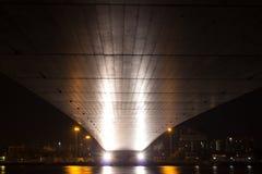 Мост Rama VIII на ноче Стоковое фото RF