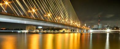 Мост Rama VIII Таиланда Стоковое Фото