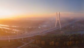 Мост Redzinski в 'aw WrocÅ, Польше стоковое фото rf