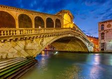Мост Rialto, Венеция Стоковые Изображения