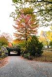 Мост Riftstone в Central Park, Нью-Йорке, США Стоковые Фотографии RF