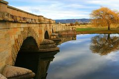 мост ross каменная Тасмания Стоковое фото RF
