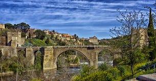 Мост ` s St Martin, Toledo, Испания стоковая фотография
