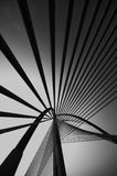 Мост Seri Wawasan в черно-белом Стоковые Фото