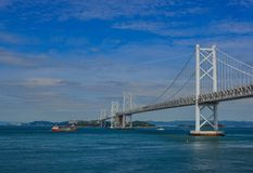 Мост Seto Ohashi в Okayama, Японии стоковые изображения rf