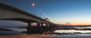 Мост Severn, Великобритания Стоковое Изображение
