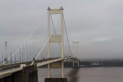 Мост Severn, висячий мост соединяя Уэльс с Engla Стоковые Изображения